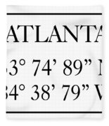Atlanta Coordinates Fleece Blanket