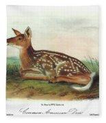 Audubon Deer Fleece Blanket