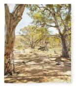 Australian Outback Oasis Fleece Blanket