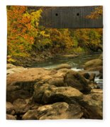 Autumn At Bulls Bridge Fleece Blanket