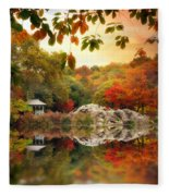Autumn At Hernshead Fleece Blanket