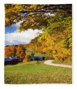 Autumn Farm Fleece Blanket