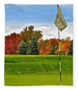 Autumn Golf Fleece Blanket