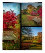 Autumn In The Park Fleece Blanket