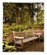Azalea Garden Fleece Blanket