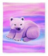 Baby Polar Bear  Fleece Blanket