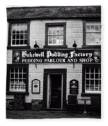 Bakewell  Pudding Factory In The Peak District - England Fleece Blanket