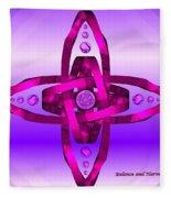 Balance And Harmony - Purple Fleece Blanket