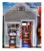Barber Shop  Fleece Blanket