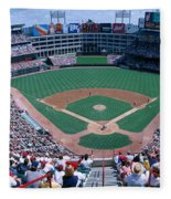 Baseball Stadium, Texas Rangers V Fleece Blanket