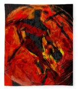 Basketball Abstract Fleece Blanket