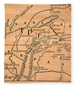 Battle Of Gettysburg, 1863 Fleece Blanket
