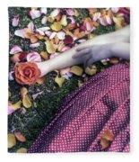 Bedded In Petals Fleece Blanket