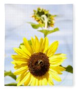 Bee On Flower Fleece Blanket