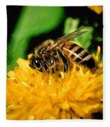 2 Bee Or Not 2 Bee Fleece Blanket