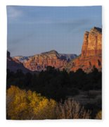 Bell Rock And Courthouse Butte Fleece Blanket