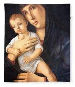 Bellini's Madonna And Child Fleece Blanket