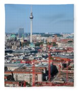 Berlin Cathedral And Tv Tower Fleece Blanket