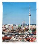 Berlin Panorama Fleece Blanket