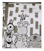 Berlin Wall Avatars Fleece Blanket