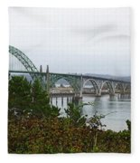 Big River Bridge Oregon Coast Fleece Blanket