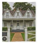 Birth Home Of Dwight D Eisenhower - Denison Texas Fleece Blanket