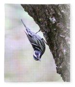 Black And White Warbler Fleece Blanket