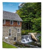 Blow Me Down Mill Cornish New Hampshire Fleece Blanket
