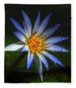 Blue Lotus Fleece Blanket