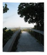 Boardwalk To The Beach Fleece Blanket