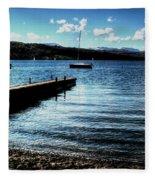 Boats In Wales Fleece Blanket