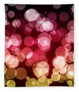 Bokeh Background Fleece Blanket
