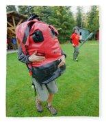 Boy Scouts Canoeing On The Bowron Lakes Fleece Blanket