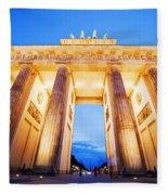 Brandenburg Gate Berlin Germany Fleece Blanket
