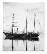 Brazilian Steamship, 1863 Fleece Blanket