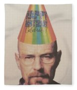 Breaking Bad Walter White Happy Birthday Fleece Blanket