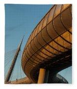 Bridges In The Sky Fleece Blanket