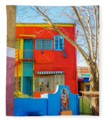 Bright Colors In Buenos Aires Fleece Blanket