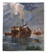 British Prison Ship Fleece Blanket