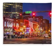 Broadway Street Nashville Fleece Blanket