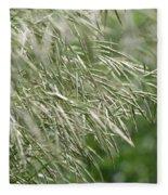 Brome Grass In The Hay Field Fleece Blanket