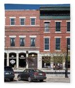 Buildings Along A Street, Thomaston Fleece Blanket