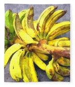 Bunch Of Banana Fleece Blanket