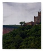 Burg Sooneck Am Rhine Fleece Blanket