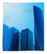 Business Skyscrapers Fleece Blanket