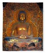Byodo In - Amida Buddha Fleece Blanket