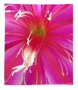 Cactus Flower Fleece Blanket