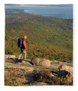 Cadillac Mountain, Acadia National Park Fleece Blanket