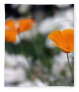 California Poppy Fleece Blanket