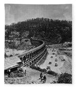 California Railroad Fleece Blanket
